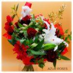 bouquet de fleur noel par Azur Roses producteur fleurs la crau toulon var