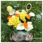 bouquet de fleurs pâques par Azur Roses producteur à La Crau Toulon Var