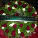 couronne mortuaire de fleurs enterrement par Azur Rose à La Crau Toulon Var