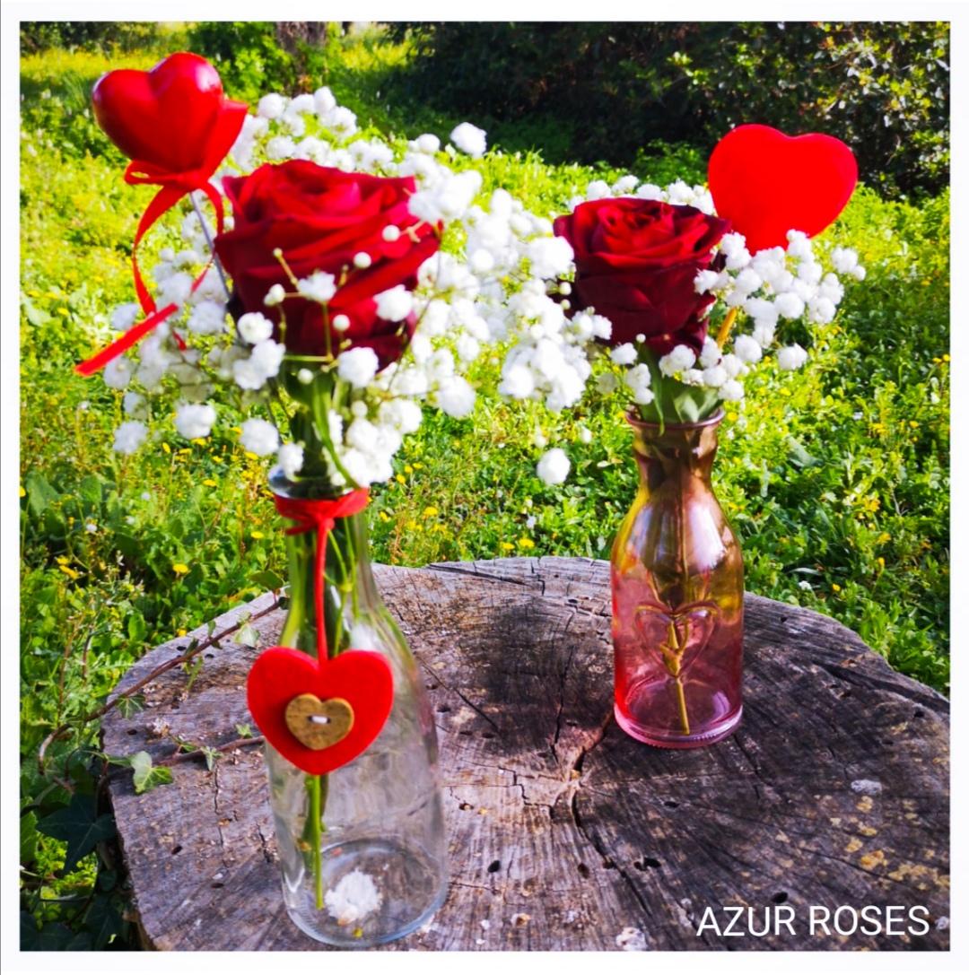 bouquet de roses saint valentin azur roses la crau soliflore